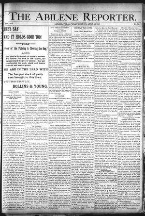 Primary view of object titled 'The Abilene Reporter. (Abilene, Tex.), Vol. 14, No. 19, Ed. 1 Friday, April 19, 1895'.