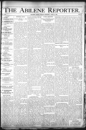 Primary view of object titled 'The Abilene Reporter. (Abilene, Tex.), Vol. 14, No. 28, Ed. 1 Friday, June 21, 1895'.