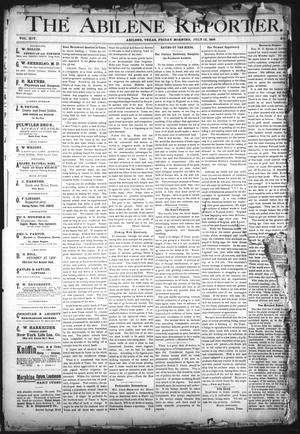 Primary view of object titled 'The Abilene Reporter. (Abilene, Tex.), Vol. 14, No. 31, Ed. 1 Friday, July 12, 1895'.