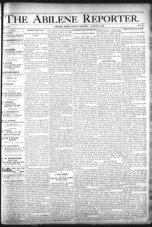 Primary view of object titled 'The Abilene Reporter. (Abilene, Tex.), Vol. 14, No. 35, Ed. 1 Friday, August 9, 1895'.