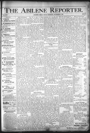 Primary view of object titled 'The Abilene Reporter. (Abilene, Tex.), Vol. 14, No. 47, Ed. 1 Friday, November 8, 1895'.