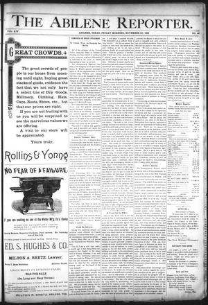 Primary view of object titled 'The Abilene Reporter. (Abilene, Tex.), Vol. 14, No. 49, Ed. 1 Friday, November 22, 1895'.