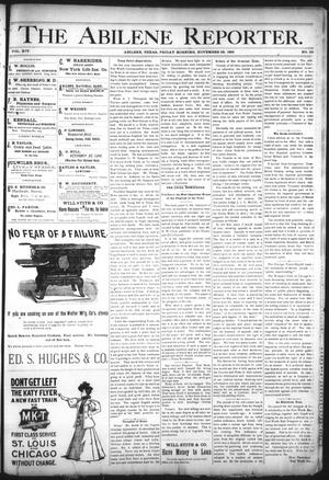 Primary view of object titled 'The Abilene Reporter. (Abilene, Tex.), Vol. 14, No. 50, Ed. 1 Friday, November 29, 1895'.