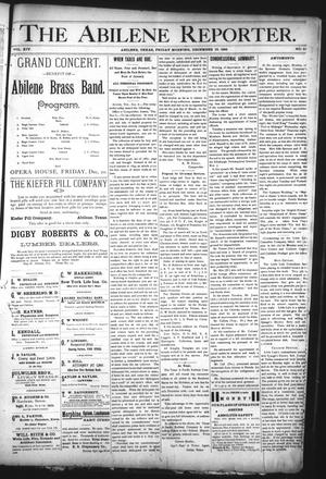 Primary view of object titled 'The Abilene Reporter. (Abilene, Tex.), Vol. 14, No. 51, Ed. 1 Friday, December 13, 1895'.