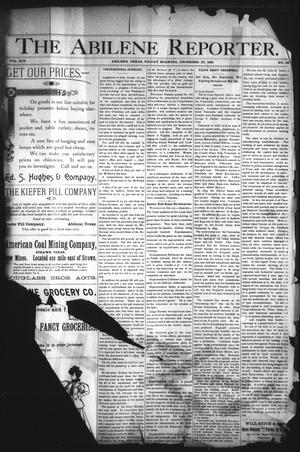 Primary view of object titled 'The Abilene Reporter. (Abilene, Tex.), Vol. 14, No. 52, Ed. 1 Friday, December 27, 1895'.