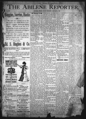 Primary view of object titled 'The Abilene Reporter. (Abilene, Tex.), Vol. 15, No. 1, Ed. 1 Friday, January 3, 1896'.
