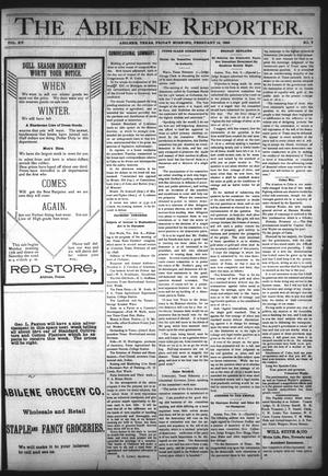 Primary view of object titled 'The Abilene Reporter. (Abilene, Tex.), Vol. 15, No. 7, Ed. 1 Friday, February 14, 1896'.