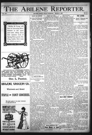 Primary view of object titled 'The Abilene Reporter. (Abilene, Tex.), Vol. 15, No. 10, Ed. 1 Friday, March 6, 1896'.