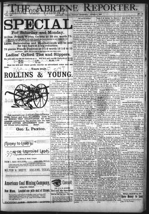 Primary view of object titled 'The Abilene Reporter. (Abilene, Tex.), Vol. 15, No. 14, Ed. 1 Friday, April 3, 1896'.
