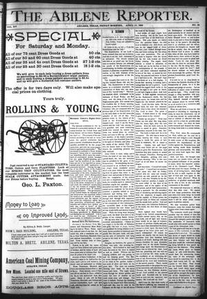 Primary view of object titled 'The Abilene Reporter. (Abilene, Tex.), Vol. 15, No. 15, Ed. 1 Friday, April 10, 1896'.