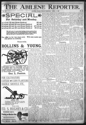 Primary view of object titled 'The Abilene Reporter. (Abilene, Tex.), Vol. 15, No. 16, Ed. 1 Friday, April 17, 1896'.