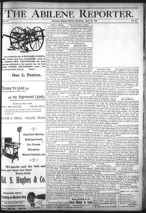 Primary view of object titled 'The Abilene Reporter. (Abilene, Tex.), Vol. 15, No. 24, Ed. 1 Friday, May 22, 1896'.