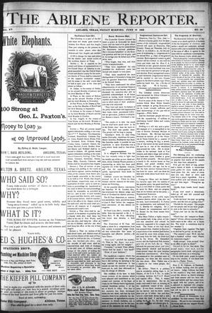 Primary view of object titled 'The Abilene Reporter. (Abilene, Tex.), Vol. 15, No. 28, Ed. 1 Friday, June 19, 1896'.