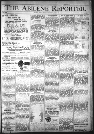 Primary view of object titled 'The Abilene Reporter. (Abilene, Tex.), Vol. 15, No. 32, Ed. 1 Friday, July 17, 1896'.