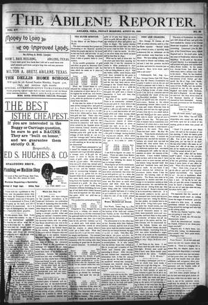 Primary view of object titled 'The Abilene Reporter. (Abilene, Tex.), Vol. 15, No. 38, Ed. 1 Friday, August 28, 1896'.