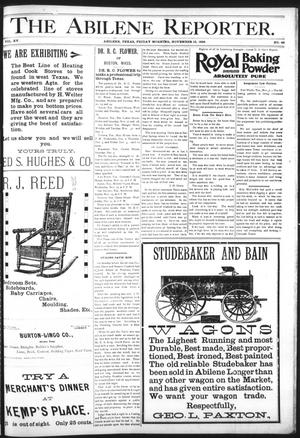 Primary view of object titled 'The Abilene Reporter. (Abilene, Tex.), Vol. 15, No. 49, Ed. 1 Friday, November 13, 1896'.