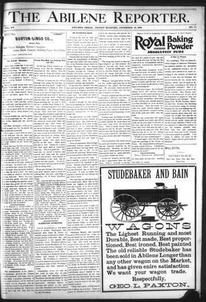 Primary view of object titled 'The Abilene Reporter. (Abilene, Tex.), Vol. 15, No. 51, Ed. 1 Friday, December 18, 1896'.