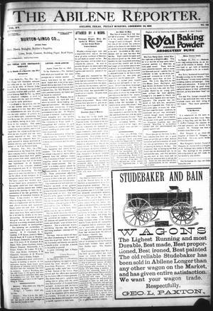 Primary view of The Abilene Reporter. (Abilene, Tex.), Vol. 15, No. 52, Ed. 1 Friday, December 25, 1896