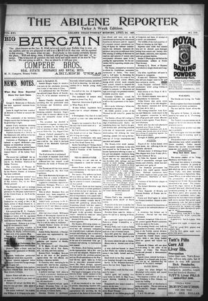 Primary view of object titled 'The Abilene Reporter (Abilene, Tex.), Vol. 16, No. 17A, Ed. 1 Tuesday, April 20, 1897'.