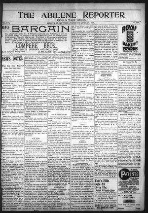 Primary view of object titled 'The Abilene Reporter (Abilene, Tex.), Vol. 16, No. 18A, Ed. 1 Tuesday, April 27, 1897'.