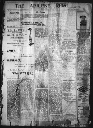 Primary view of object titled 'The Abilene Reporter (Abilene, Tex.), Vol. 17, No. 1, Ed. 1 Friday, January 7, 1898'.