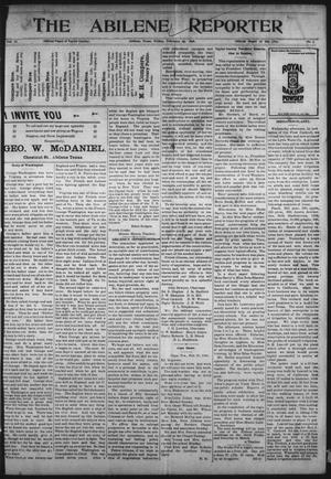Primary view of object titled 'The Abilene Reporter (Abilene, Tex.), Vol. 17, No. 7, Ed. 1 Friday, February 25, 1898'.