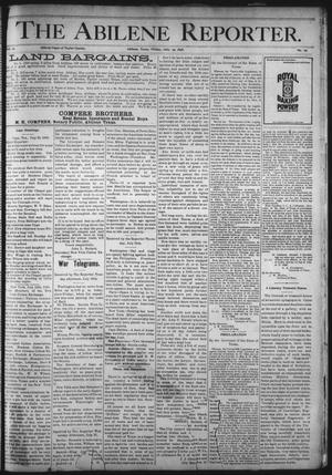 Primary view of object titled 'The Abilene Reporter. (Abilene, Tex.), Vol. 17, No. 29, Ed. 1 Friday, July 29, 1898'.