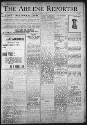 Primary view of object titled 'The Abilene Reporter. (Abilene, Tex.), Vol. 17, No. 31, Ed. 1 Friday, August 12, 1898'.