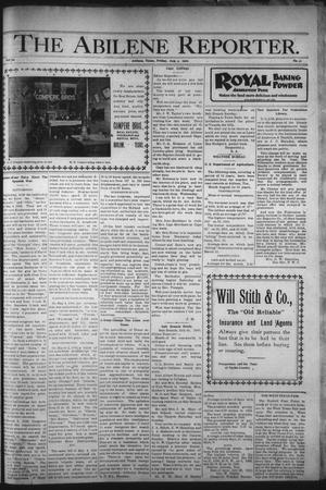 Primary view of object titled 'The Abilene Reporter. (Abilene, Tex.), Vol. 20, No. 31, Ed. 1 Friday, August 3, 1900'.