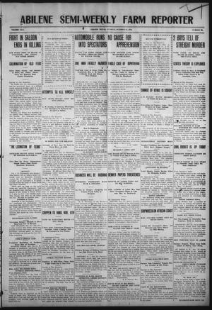 Primary view of object titled 'Abilene Semi-Weekly Farm Reporter (Abilene, Tex.), Vol. 30, No. 92, Ed. 1 Tuesday, October 25, 1910'.