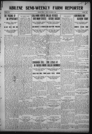 Primary view of object titled 'Abilene Semi-Weekly Farm Reporter (Abilene, Tex.), Vol. 30, No. 103, Ed. 1 Friday, December 2, 1910'.