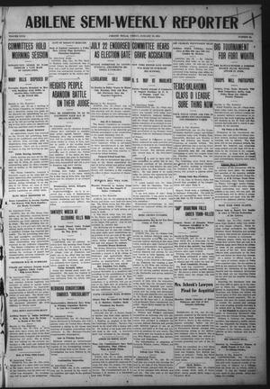 Primary view of object titled 'Abilene Semi-Weekly Reporter (Abilene, Tex.), Vol. 31, No. 15, Ed. 1 Friday, January 27, 1911'.