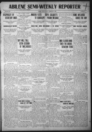 Primary view of object titled 'Abilene Semi-Weekly Reporter (Abilene, Tex.), Vol. 31, No. 21, Ed. 1 Friday, February 17, 1911'.