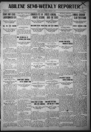 Primary view of object titled 'Abilene Semi-Weekly Reporter (Abilene, Tex.), Vol. 31, No. 22, Ed. 1 Tuesday, February 21, 1911'.