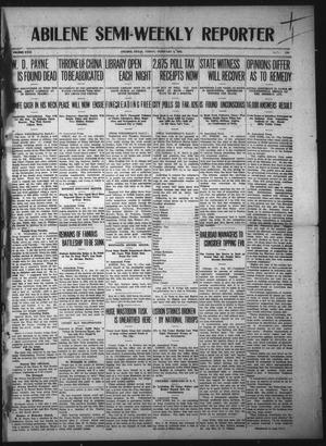 Primary view of object titled 'Abilene Semi-Weekly Reporter (Abilene, Tex.), Vol. 31, No. 172, Ed. 1 Friday, February 2, 1912'.