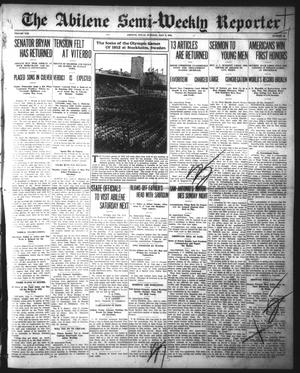 Primary view of object titled 'The Abilene Semi-Weekly Reporter (Abilene, Tex.), Vol. 21, No. 49, Ed. 1 Tuesday, July 9, 1912'.