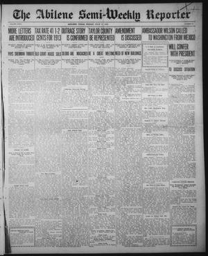 Primary view of object titled 'The Abilene Semi-Weekly Reporter (Abilene, Tex.), Vol. 32, No. 52, Ed. 1 Thursday, July 17, 1913'.