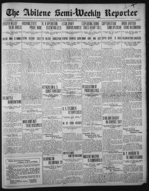 Primary view of object titled 'The Abilene Semi-Weekly Reporter (Abilene, Tex.), Vol. 32, No. 95, Ed. 1 Tuesday, November 27, 1917'.