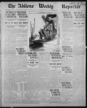 Primary view of object titled 'The Abilene Weekly Reporter (Abilene, Tex.), Vol. 33, No. 50, Ed. 1 Wednesday, December 11, 1918'.