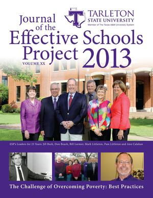 Primary view of object titled 'Journal of the Effective Schools Project, Volume 20, 2013'.