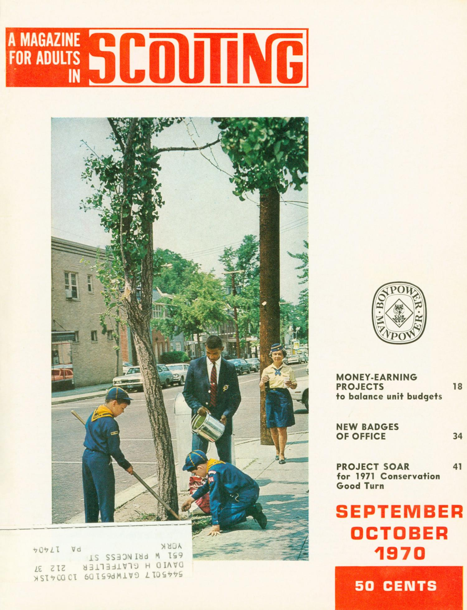 Scouting, Volume 58, Number 5, September-October 1970                                                                                                      Front Cover
