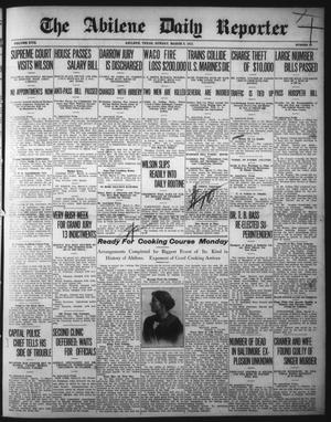Primary view of object titled 'The Abilene Daily Reporter (Abilene, Tex.), Vol. 17, No. 61, Ed. 1 Sunday, March 9, 1913'.