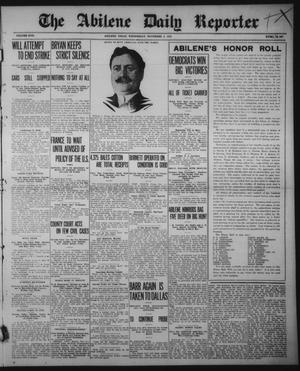 Primary view of object titled 'The Abilene Daily Reporter (Abilene, Tex.), Vol. 17, No. 267, Ed. 1 Wednesday, November 5, 1913'.