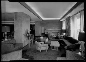 Primary view of object titled 'Commodore Perry Hotel Lounge Area'.