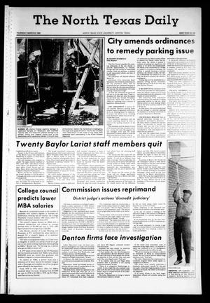 Primary view of object titled 'The North Texas Daily (Denton, Tex.), Vol. 63, No. 86, Ed. 1 Thursday, March 6, 1980'.