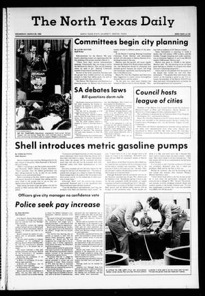 Primary view of object titled 'The North Texas Daily (Denton, Tex.), Vol. 63, No. 93, Ed. 1 Wednesday, March 26, 1980'.
