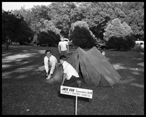 Primary view of object titled 'Camping on Capitol Grounds'.