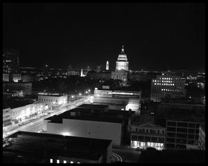 Primary view of object titled '[Photograph of Texas State Capitol at Night]'.