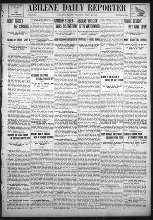 Primary view of object titled 'Abilene Daily Reporter (Abilene, Tex.), Vol. 13, No. 296, Ed. 1 Tuesday, June 29, 1909'.