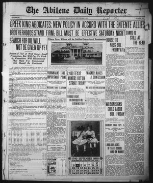 Primary view of The Abilene Daily Reporter (Abilene, Tex.), Vol. 20, No. 143, Ed. 1 Friday, September 1, 1916